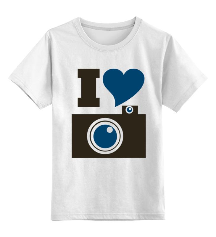Printio Детская футболка классическая унисекс Я люблю фото (селфи)