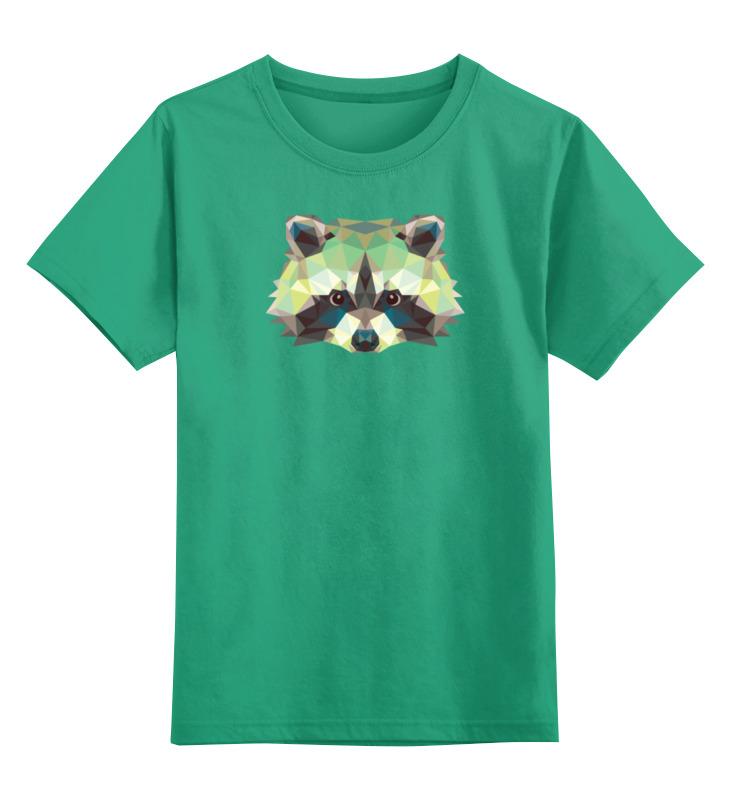 Фото - Printio Детская футболка классическая унисекс Полигональный енот printio детская футболка классическая унисекс полигональный кабан