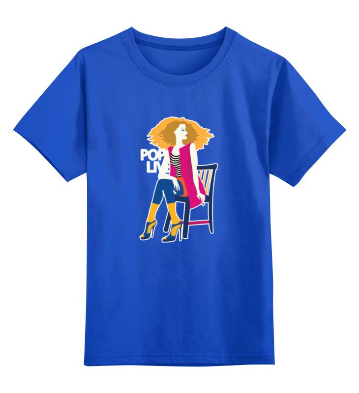 Printio Детская футболка классическая унисекс Поп арт дизайн. красивая девушка в полосатой майке