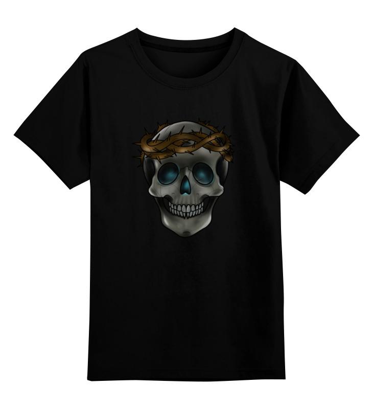 Printio Детская футболка классическая унисекс Skull in a crown of thorns tshepo moloi place of thorns