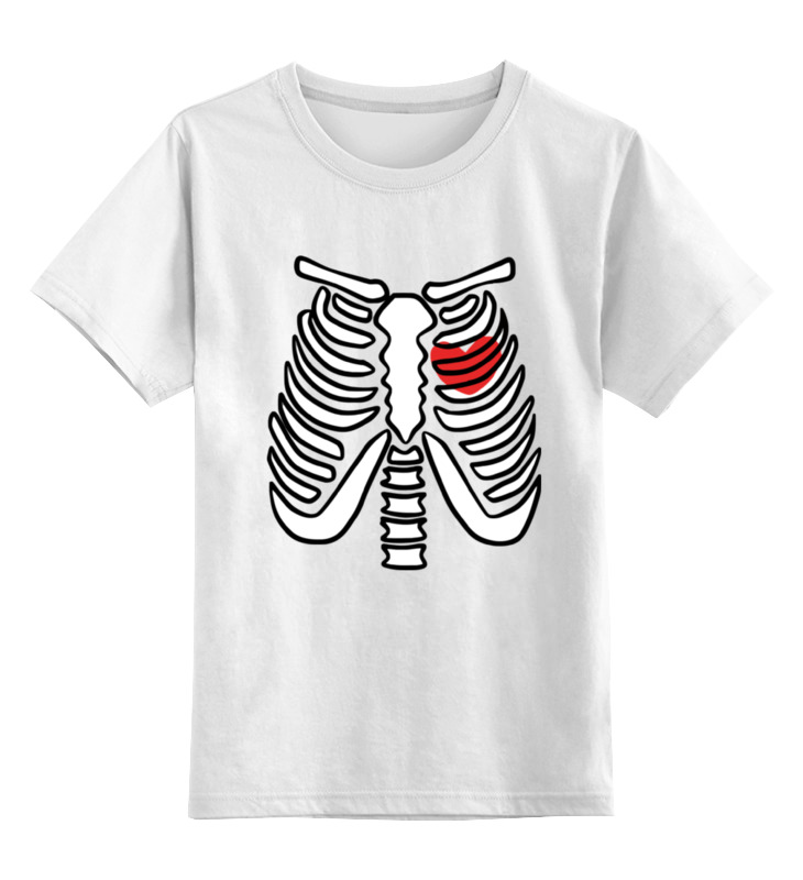 Фото - Printio Детская футболка классическая унисекс Скелет и сердце printio детская футболка классическая унисекс скелет и жуткий кот