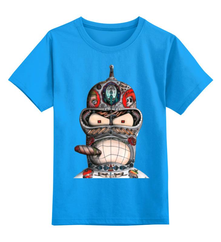 Printio Детская футболка классическая унисекс Бендер из футурамы printio лонгслив бендер из футурамы