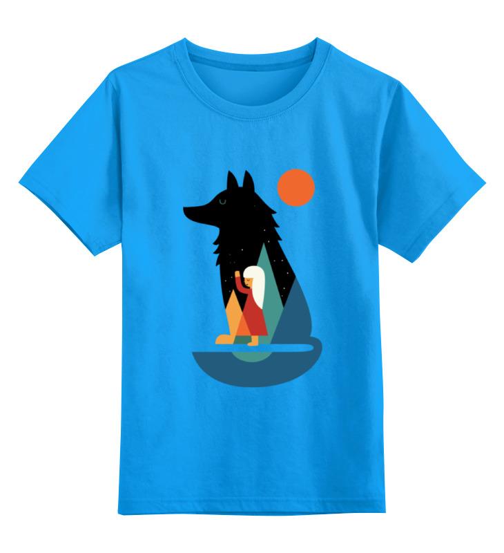 Printio Детская футболка классическая унисекс Девочка и волк