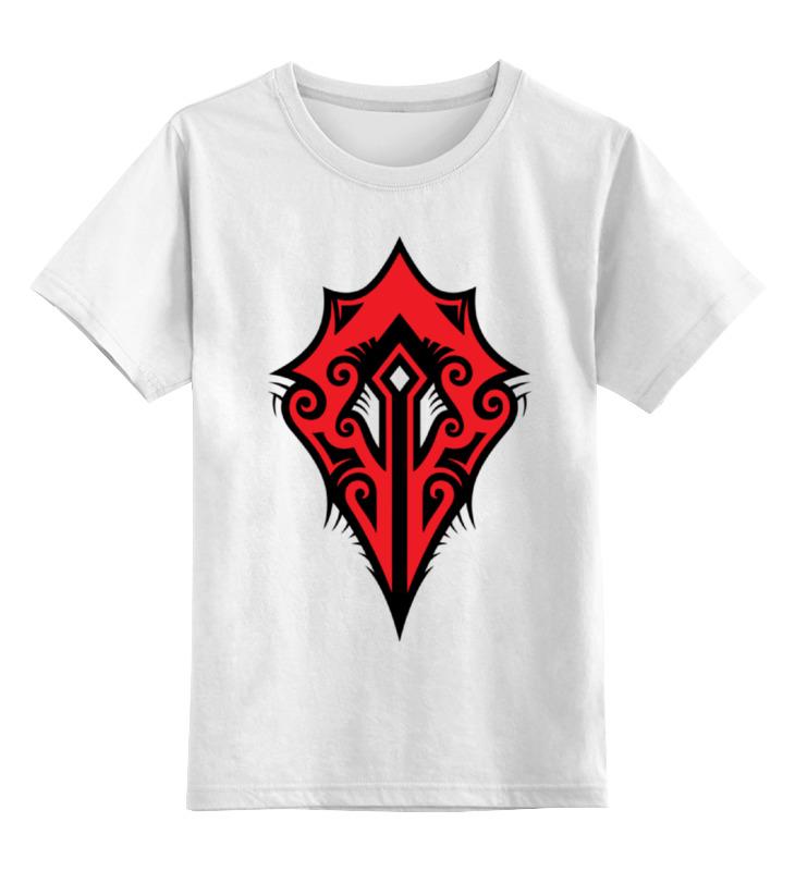 Printio Детская футболка классическая унисекс Герб орды (варкрафт)