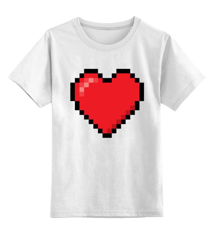 printio детская футболка классическая унисекс покемоны 8 бит драконы Printio Детская футболка классическая унисекс Пиксельное сердце (8-бит)