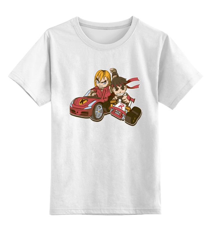 детская футболка классическая унисекс printio джентльмен боец Printio Детская футболка классическая унисекс Уличный боец (картинг)