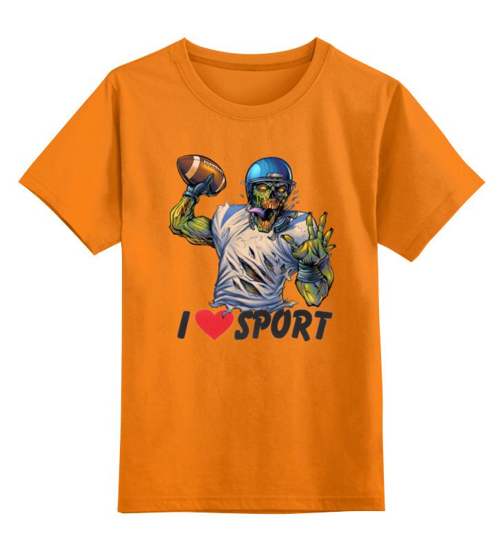 Printio Детская футболка классическая унисекс Зомби спорт - я люблю спорт