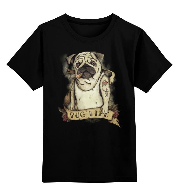 Printio Детская футболка классическая унисекс Жизнь мопса