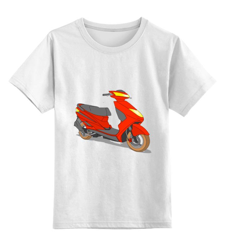 Printio Детская футболка классическая унисекс Мопед