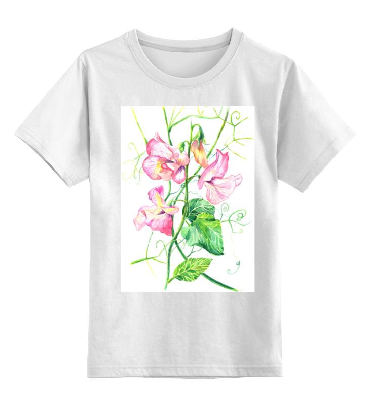 Printio Детская футболка классическая унисекс Цветы душистый горошек
