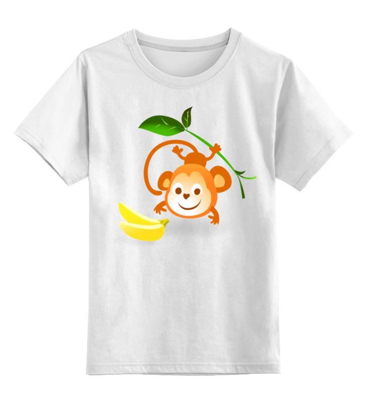 Printio Детская футболка классическая унисекс Обезьянка с бананами