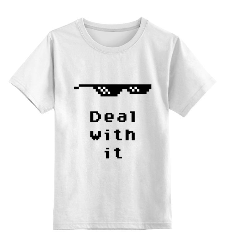 Фото - Printio Детская футболка классическая унисекс Пиксельные очки (deal with it) солнцезащитные очки pixel crew deal with it