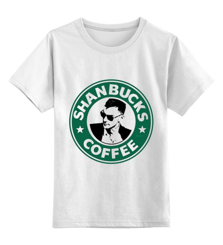 детская футболка классическая унисекс printio banana coffee minion Printio Детская футболка классическая унисекс Shanbucks coffee