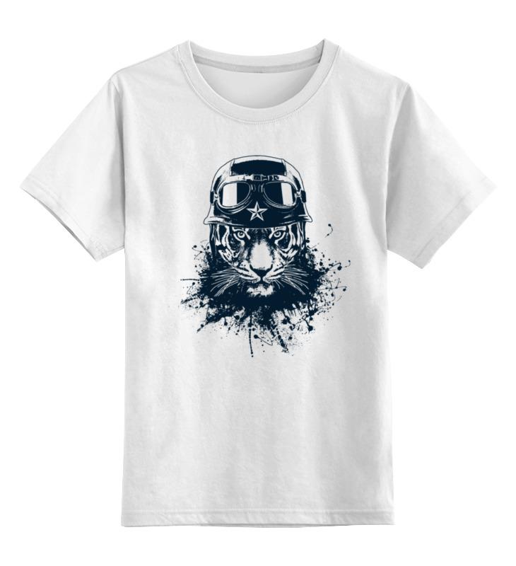 детская футболка классическая унисекс printio джентльмен боец Printio Детская футболка классическая унисекс Тигр боец