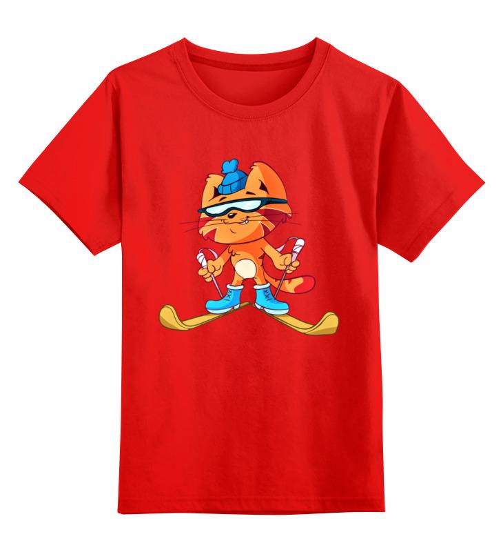 Printio Детская футболка классическая унисекс Лыжи