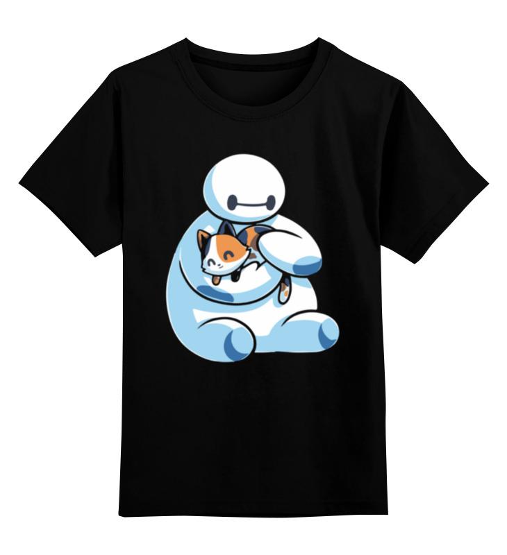 Printio Детская футболка классическая унисекс Бэймакс с котиком
