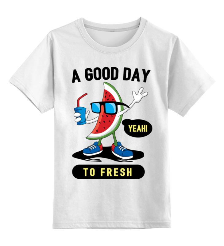 Printio Детская футболка классическая унисекс Арбуз в очках