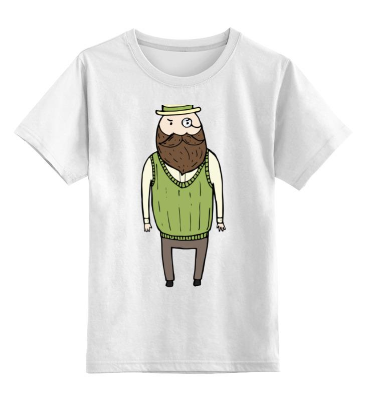детская футболка классическая унисекс printio джентльмен боец Printio Детская футболка классическая унисекс Джентльмен с моноклем