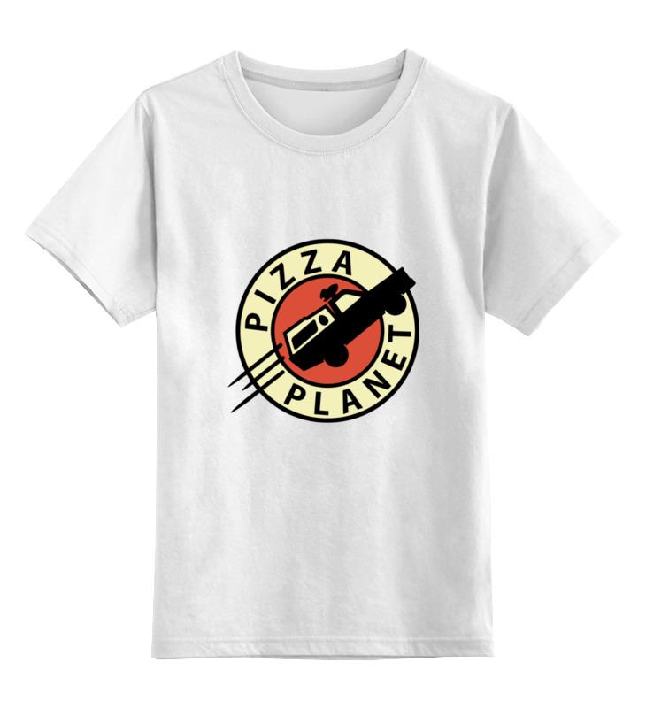 Printio Детская футболка классическая унисекс Планета пиццы