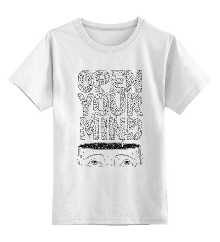 Фото - Printio Детская футболка классическая унисекс Open your mind printio футболка классическая open your mind