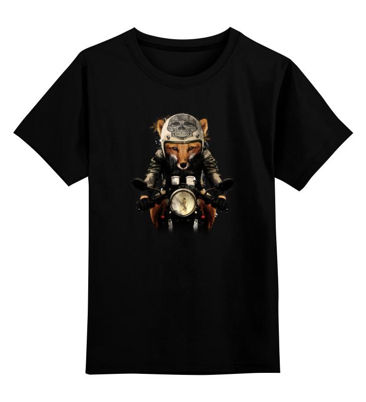 Фото - Printio Детская футболка классическая унисекс Лис на мотоцикле printio футболка классическая модный лис 1