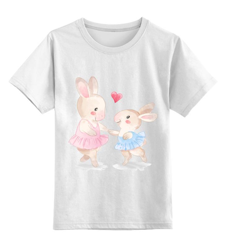 Printio Детская футболка классическая унисекс Зайки дружат
