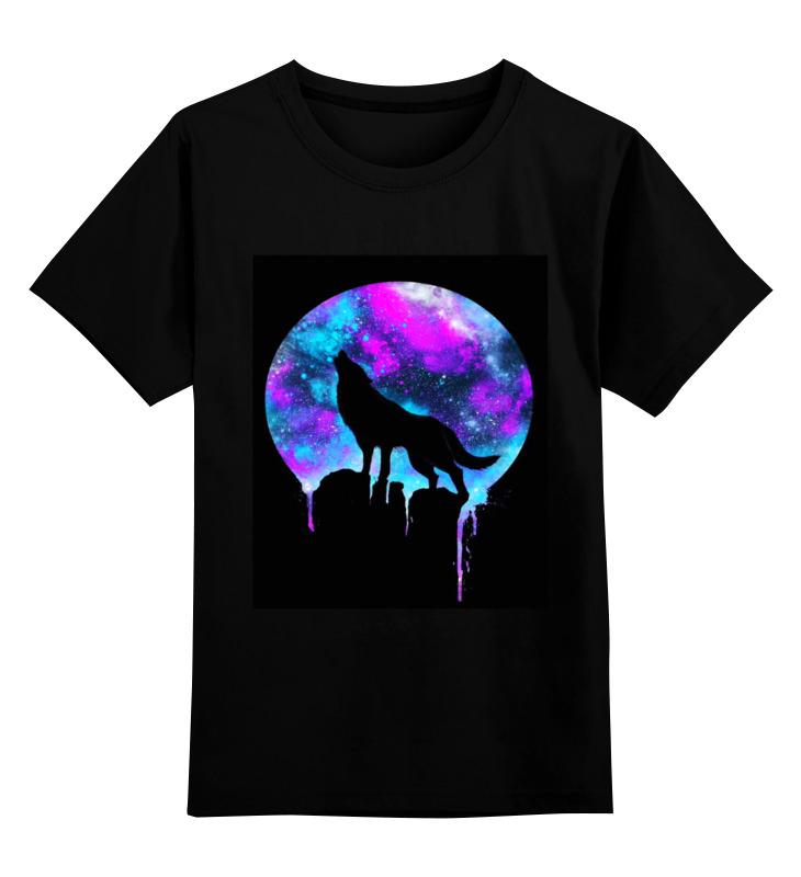 футболка классическая printio волк и луна Printio Детская футболка классическая унисекс волк и луна