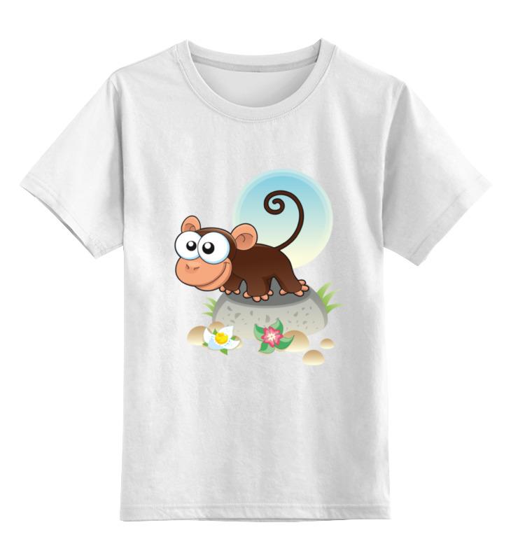 Printio Детская футболка классическая унисекс Любопытная мартышка