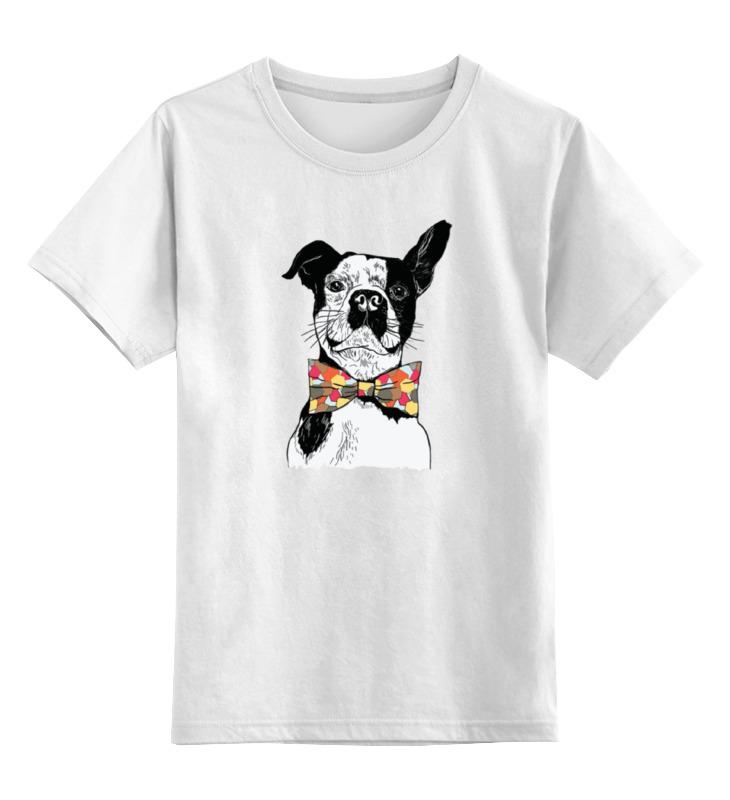 детская футболка классическая унисекс printio джентльмен боец Printio Детская футболка классическая унисекс Собака джентльмен