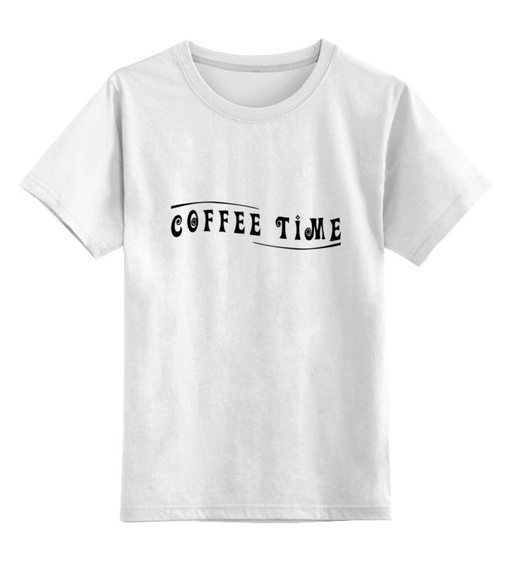 детская футболка классическая унисекс printio banana coffee minion Printio Детская футболка классическая унисекс Coffee time