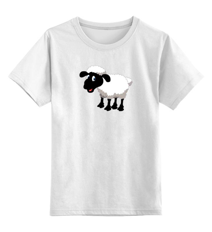 Printio Детская футболка классическая унисекс Белая овечка