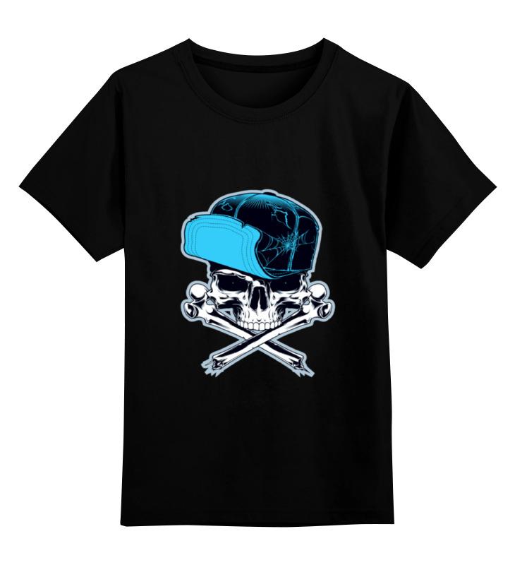 Printio Детская футболка классическая унисекс Череп в кепке
