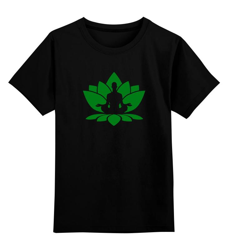 Printio Детская футболка классическая унисекс Йога (поза лотоса) printio детская футболка классическая унисекс йога девушка