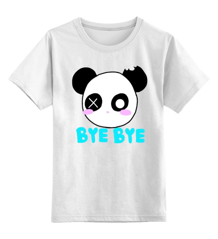 Printio Детская футболка классическая унисекс Панда бай бай