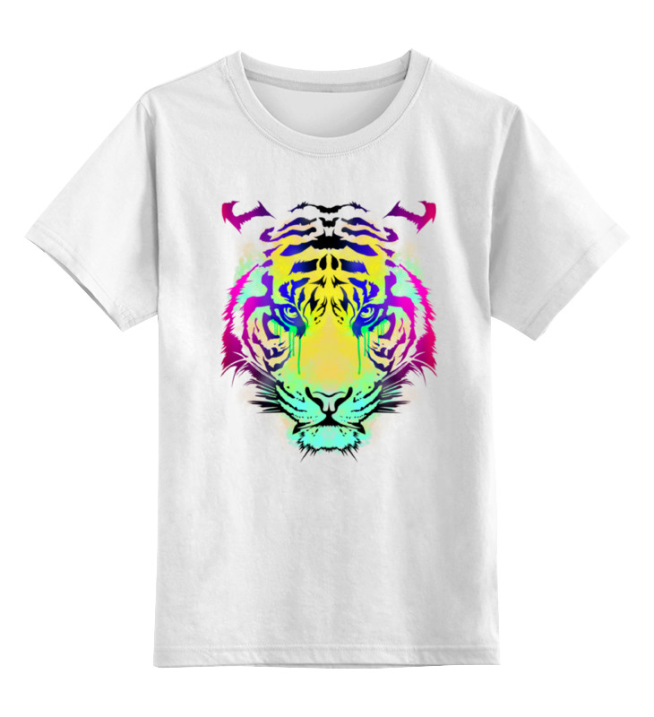 Фото - Printio Детская футболка классическая унисекс Тигр абстракция printio детская футболка классическая унисекс волк абстракция