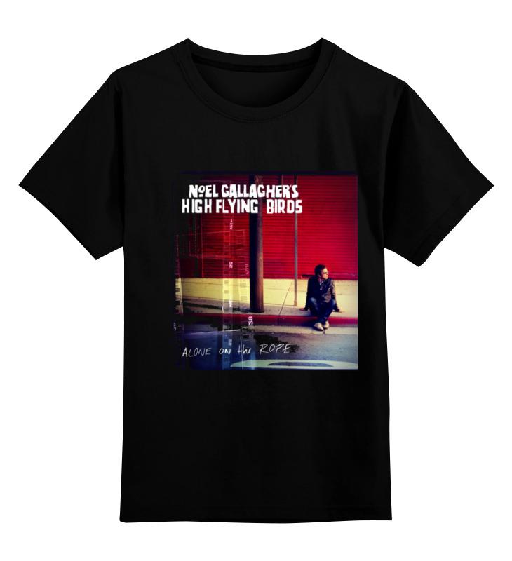 2017 flying black red birds pig kids boys action Printio Детская футболка классическая унисекс Noel gallagher's high flying birds
