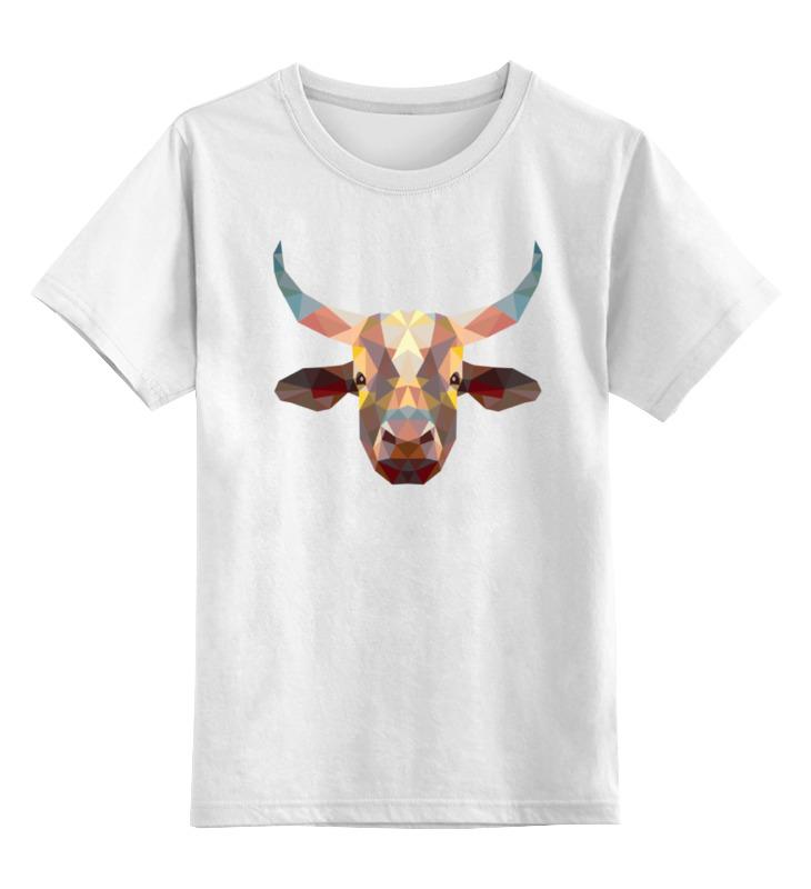 Фото - Printio Детская футболка классическая унисекс Полигональный бык printio детская футболка классическая унисекс полигональный кабан