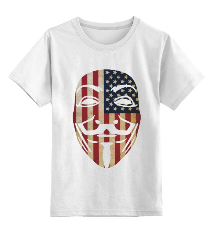Printio Детская футболка классическая унисекс Usa anonymous