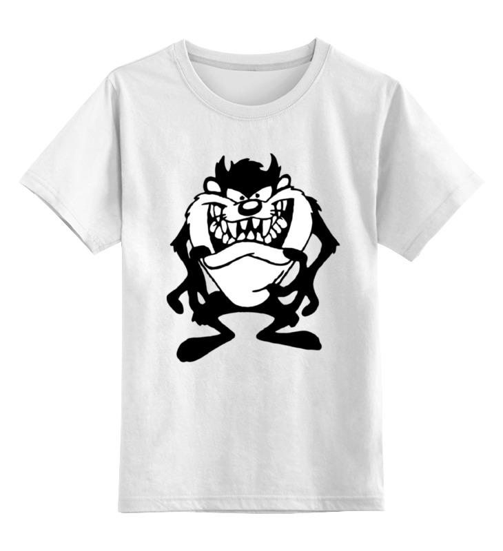 Printio Детская футболка классическая унисекс Тасманский дьявол printio футболка с полной запечаткой мужская тасманский дьявол