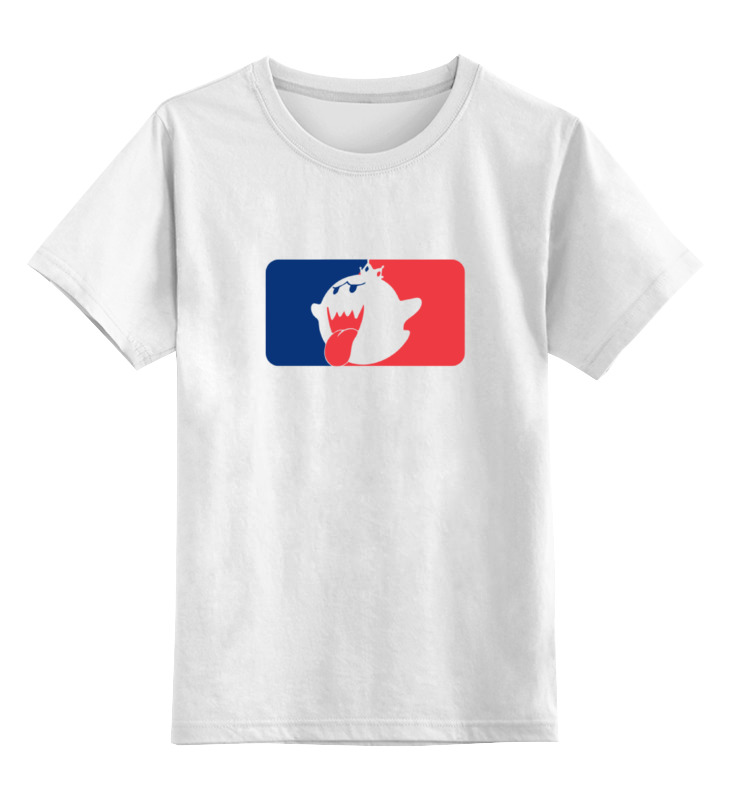 Printio Детская футболка классическая унисекс Кинг бу (марио)