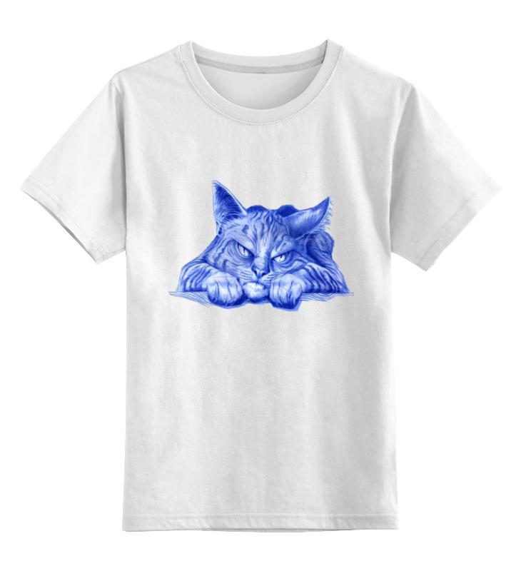 Printio Детская футболка классическая унисекс Задумчивый кот
