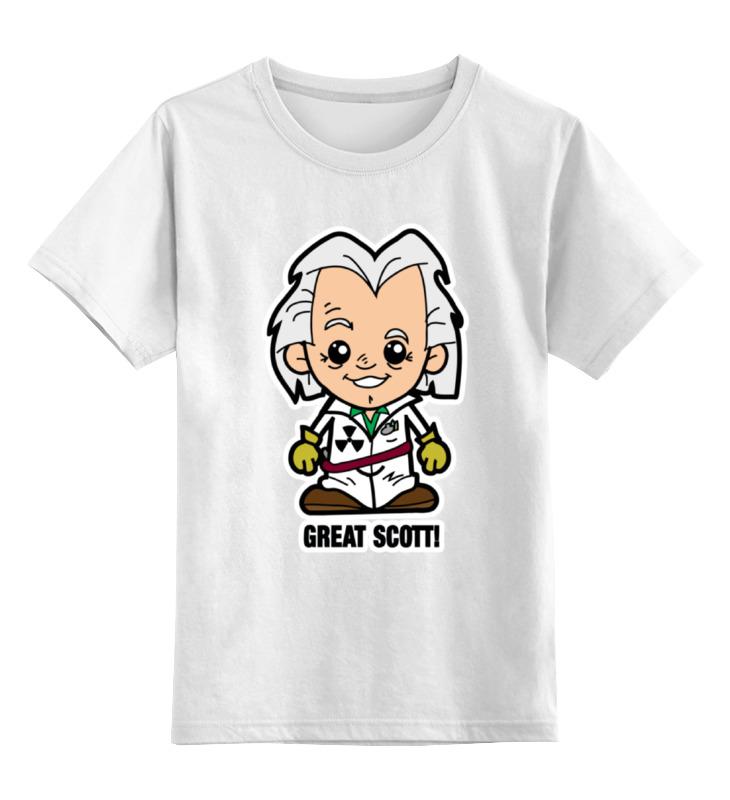 Printio Детская футболка классическая унисекс Док (назад в будущее) printio футболка классическая назад в ссср