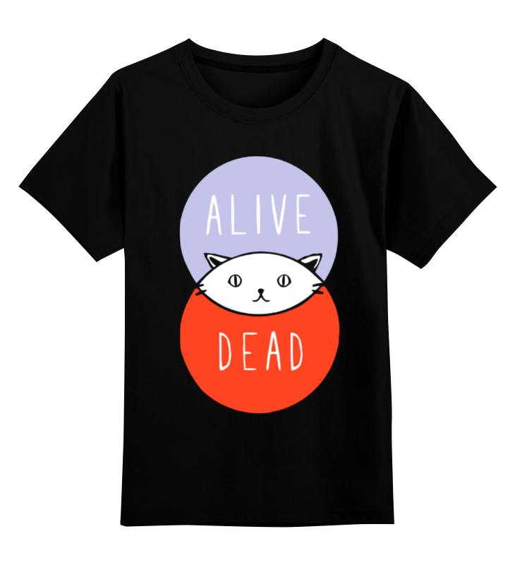 Printio Детская футболка классическая унисекс Кот шрёдингера (живой, мертвый) printio детская футболка классическая унисекс кот шрёдингера dead alive