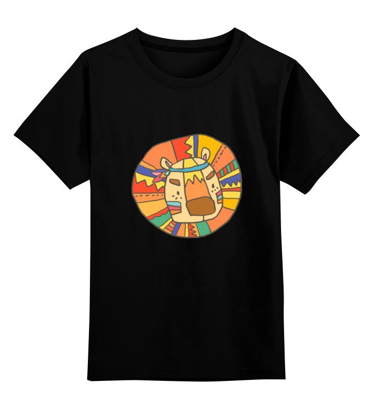 Printio Детская футболка классическая унисекс Этно лев printio детская футболка классическая унисекс этно лиса