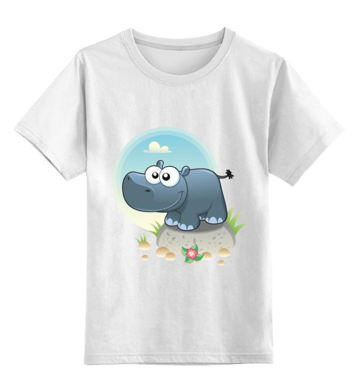 Printio Детская футболка классическая унисекс Бегемот пэпа детская литература раскраска бегемот