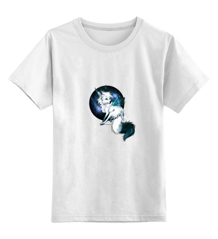 Printio Детская футболка классическая унисекс Белая волчица