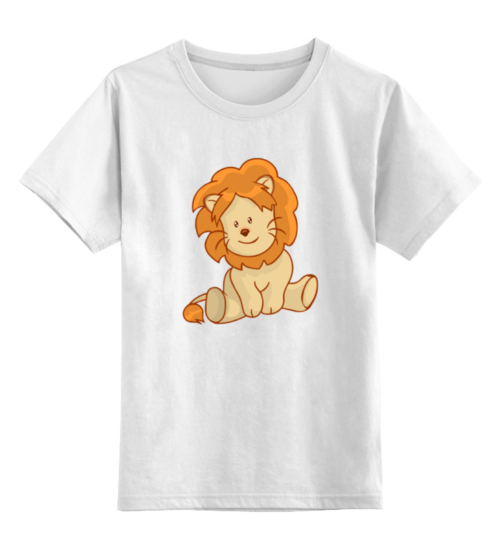Printio Детская футболка классическая унисекс Милый львенок
