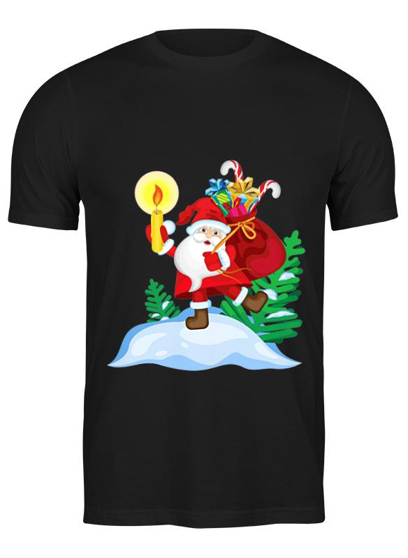 Printio Футболка классическая большого размера Санта в пути