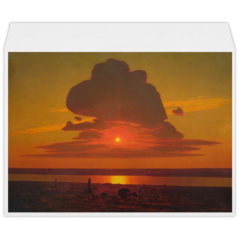 Фото - Printio Конверт большой С4 Красный закат (картина архипа куинджи) printio тетрадь на скрепке берёзовая роща картина архипа куинджи