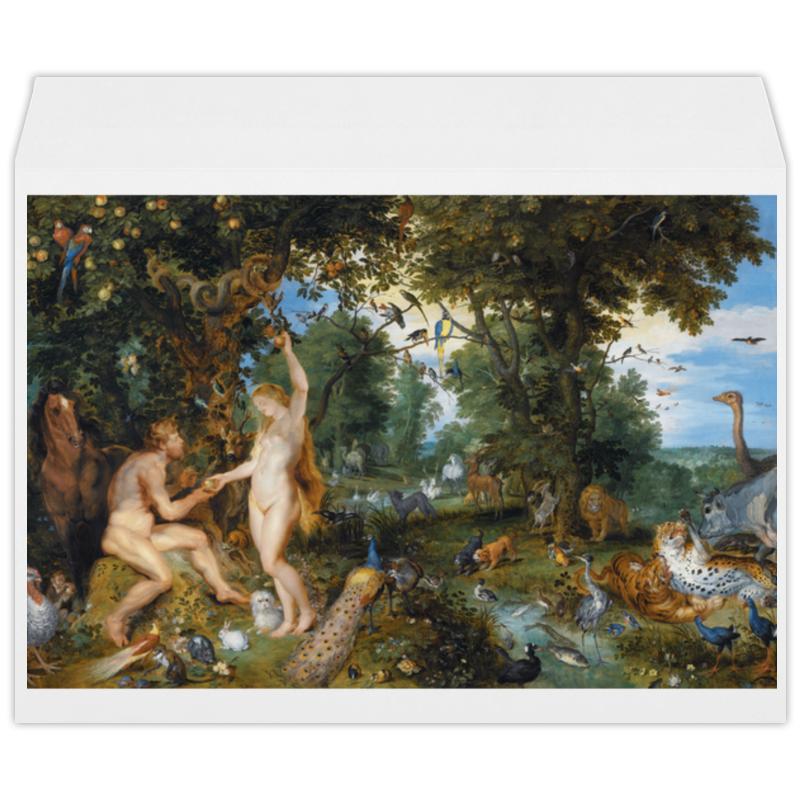 Printio Конверт большой С4 Эдемский сад с грехопадением человека (рубенс)